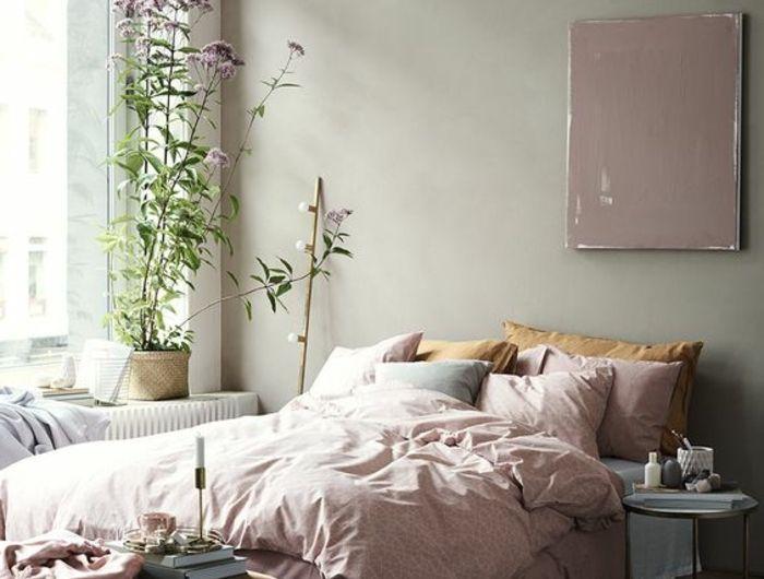 Les 25 meilleures id es de la cat gorie draps de lit sur for Peinture murale gris perle