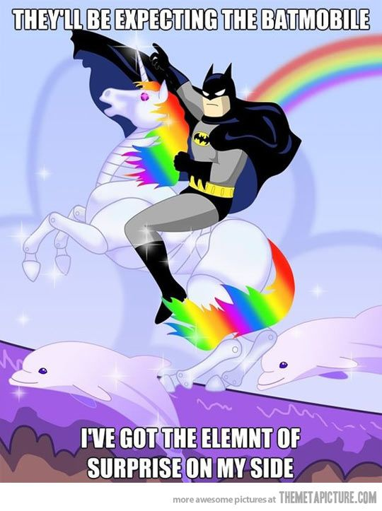Robots, Funny Pics, Funny Pictures, Dolphins, Batman, Funny Photos, Super Heroes, Rainbows Unicorns, Lisa Frank