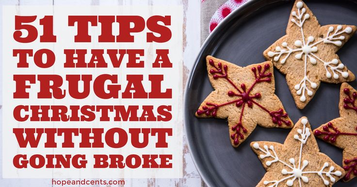 Having a frugal Christmas does not have to mean your holidays are bare, and having an enjoyable holiday season doesn't mean you go have to go broke.