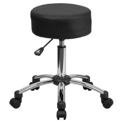 Flash Furniture Medical Ergonomic Stool with Chrome Base - BT-191-1-GG, Durable