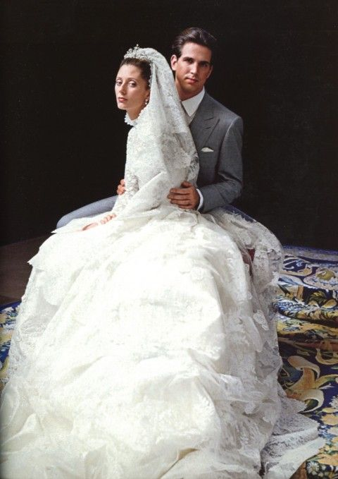 royaltyspeaking:  Pavlos and Marie Chantal, Crown Prince and Princess of Greece, on their wedding day, 1995