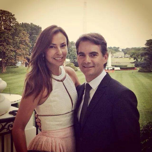 Ingrid Vandebosch and Jeff Gordon at The White House