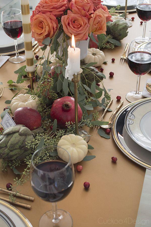 Thanksgiving Table Setting - Cuckoo4Design