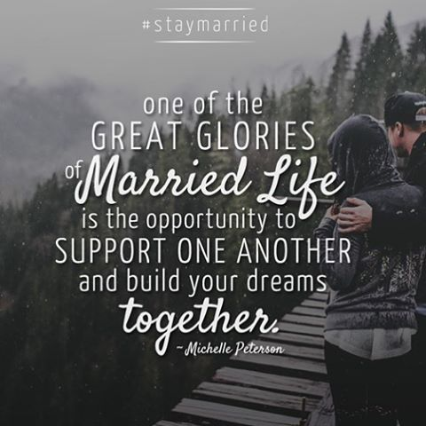 Encourage and support one another in #marriage @staymarriedblog