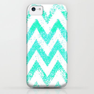 mint chevron iPhone & iPod Case