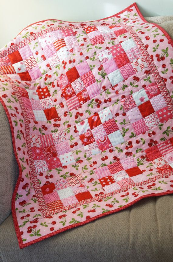 Valentines Quilt  Moda Surrounded by Love - Deb Strain Baby by MyBlankies. I want to make a pink quilt. Not quite this pink, but ideas...