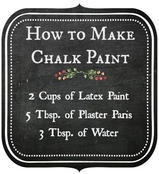 I had no idea you could make your own chalk paint!
