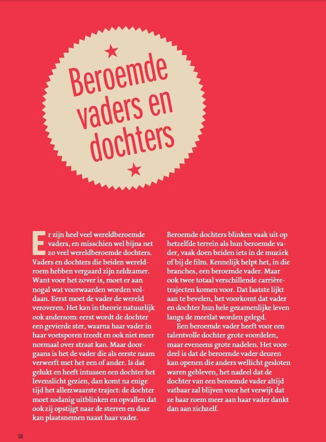 Beroemde vaders? Je vindt ze in het #VaderDochterboek van Bert & Hannah Wagendorp