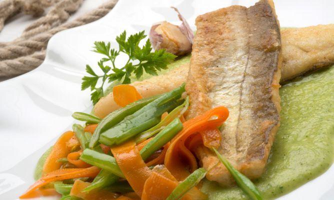 Receta de Libas fritas con judías y zanahorias salteadas