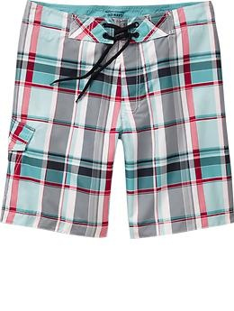 Pocket Swim Short Limited Edition Teal, Fushia and Navy Plaid