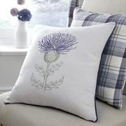 Balmoral Mauve Thistle Cushion
