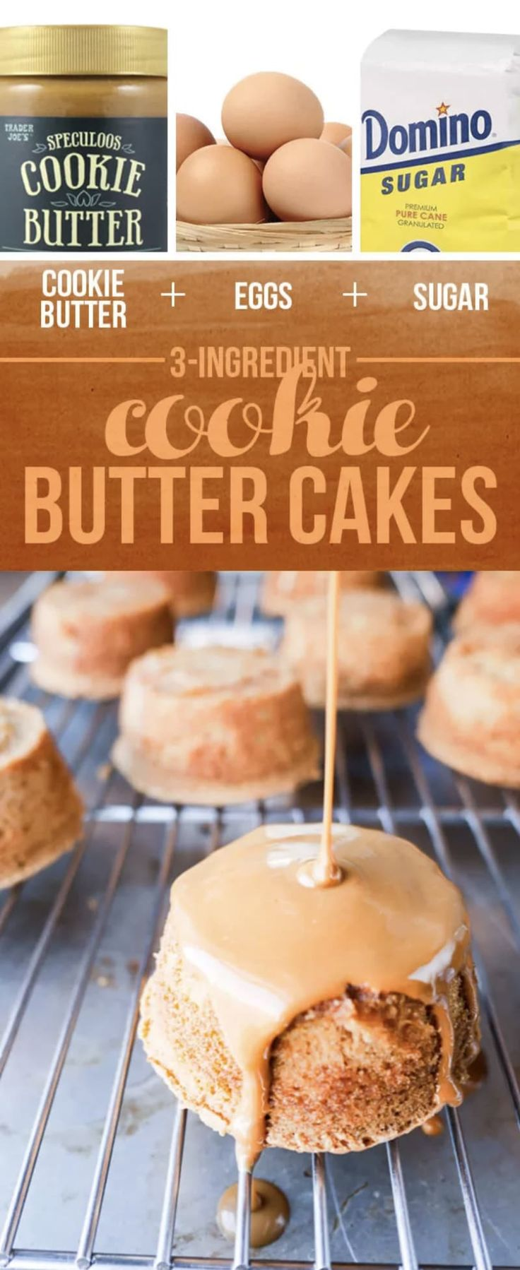 Dessert-wise, these are about as easy (and inexpensive!) as it gets: They bake quickly in a muffin tin — and then are glazed with even more cookie butter. Find the recipe here.Read more: 13 Insanely Easy Three-Ingredient Desserts