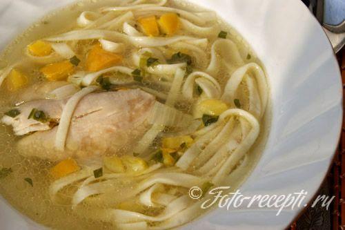 Приготовление куриного супа рецепт видео