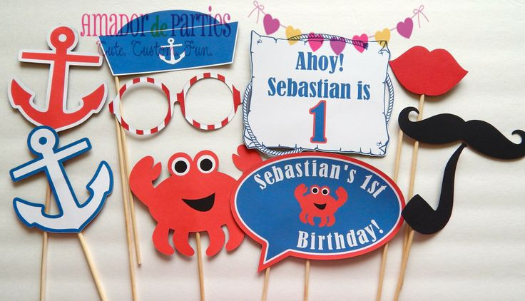 Crab or Nautical Photo Booth Props