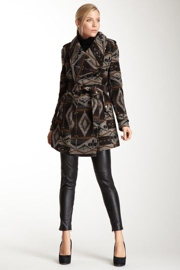 Sam Edelman Navajo Print Wrap Coat on HauteLook