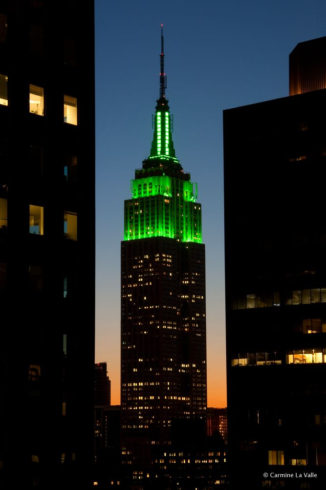 Empire State Building on St. Patrick's Day...