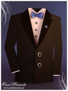 tuxedo card - template and tutorial - bjl
