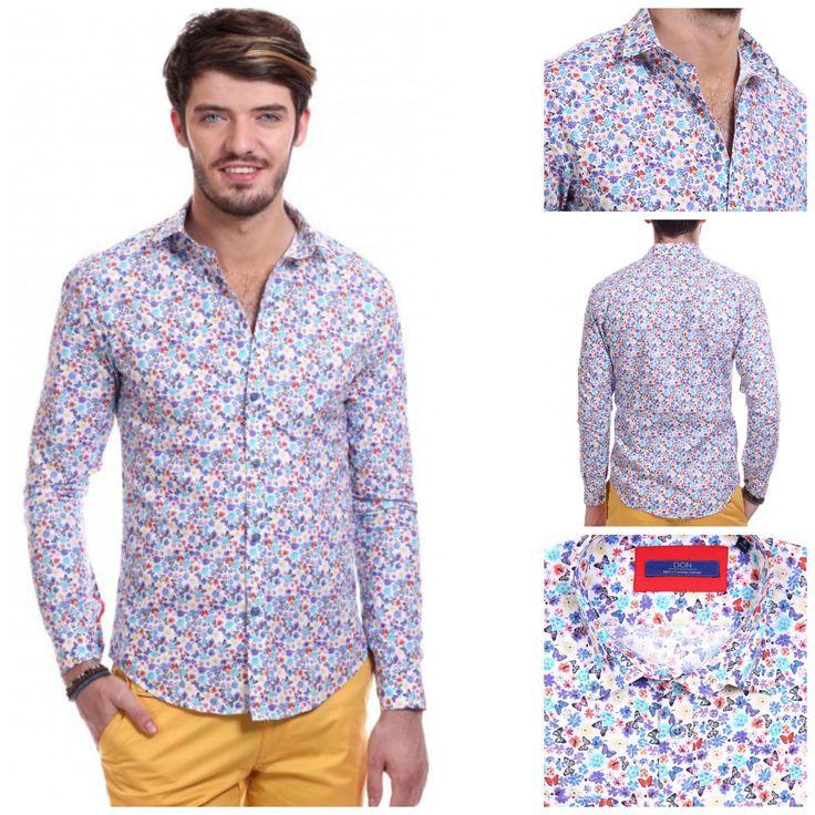 Camasa DON Butterflies, 149 lei #summer #outfit #donmen #shoponline don-men.com
