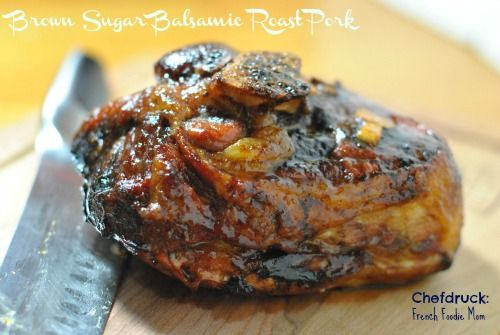 Brown Sugar Balsamic Glazed Roast Pork
