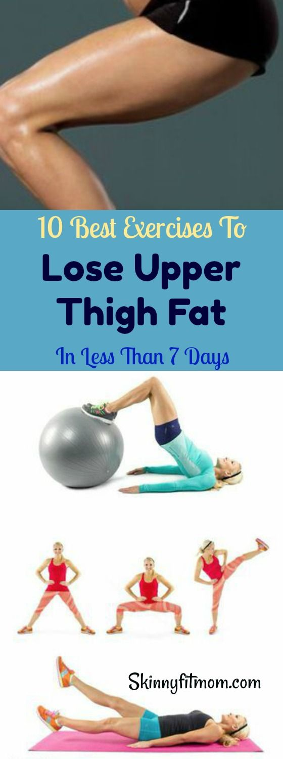 You can now bid farewell to thigh fat with these best exercises to get rid of upper thigh fat in 7 days. #thighworkout