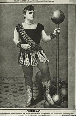 "Josephine Blatt (1869-1923), known as ""Minerva"". Professional strongwoman.10 Strongwomen, Josephineblatt 754548, Strongwomenwoman Strong, Female Bodybuilding, American Strongman, Strong Women, Josephine Blatt, Charmion Strongwomenwoman, Circus Strongman"