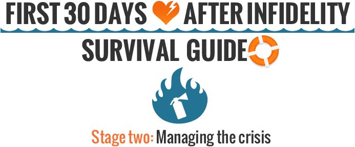 Surviving the First 30-Days After the Affair - Stage Two - Managing the Crisis