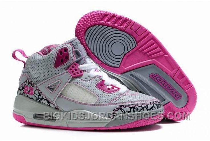 http://www.bigkidsjordanshoes.com/kids-air-jordan-spizike-35-grey-pink-for-sale.html KIDS AIR JORDAN SPIZIKE 3.5 GREY PINK FOR SALE Only $75.64 , Free Shipping!