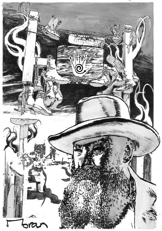 "Interior artwork for the ""Dead Scalp"" short story. Artwork by Rob Moran.  http://getbook.at/JasperPrimeCuts"