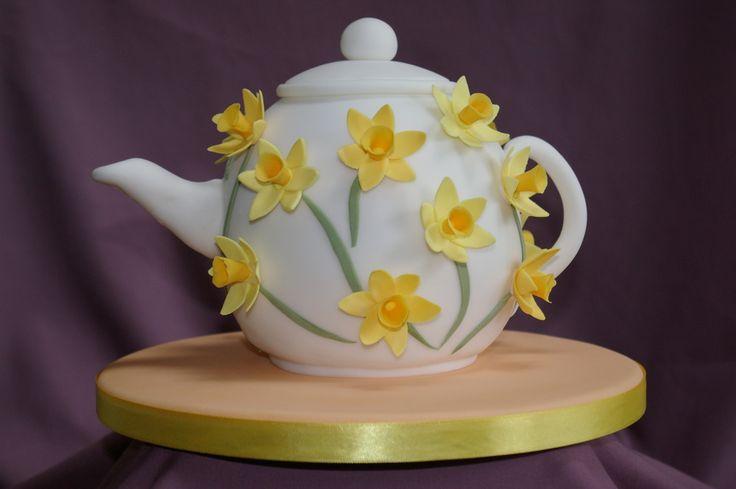 tea pot cake   Springtime Teapot Cake