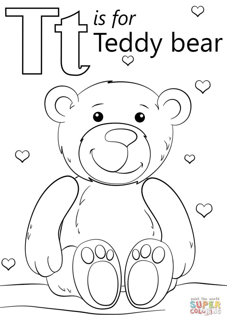 Great Image Of Letter T Coloring Page Davemelillo Com Teddy Bear Coloring Pages Bear Coloring Pages Alphabet Coloring Pages Kindergartenworksheets asl coloring pages j