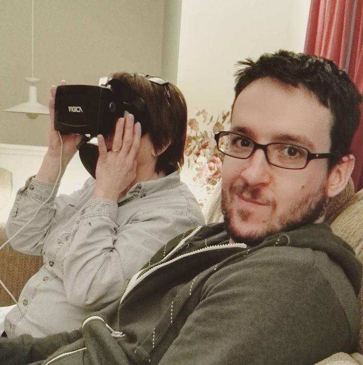 """""""Getting Mike's mom to try #virtualreality... she was into it"""""""