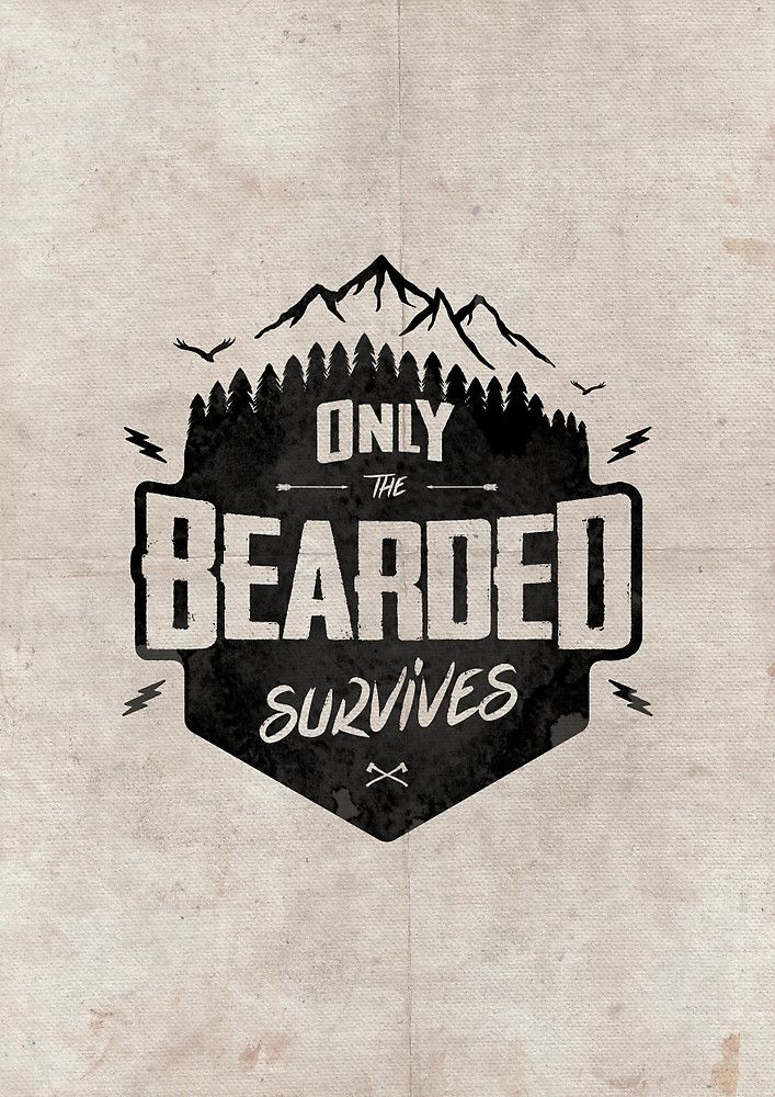 ONLY THE BEARDED SURVIVE by snevi #tshirts