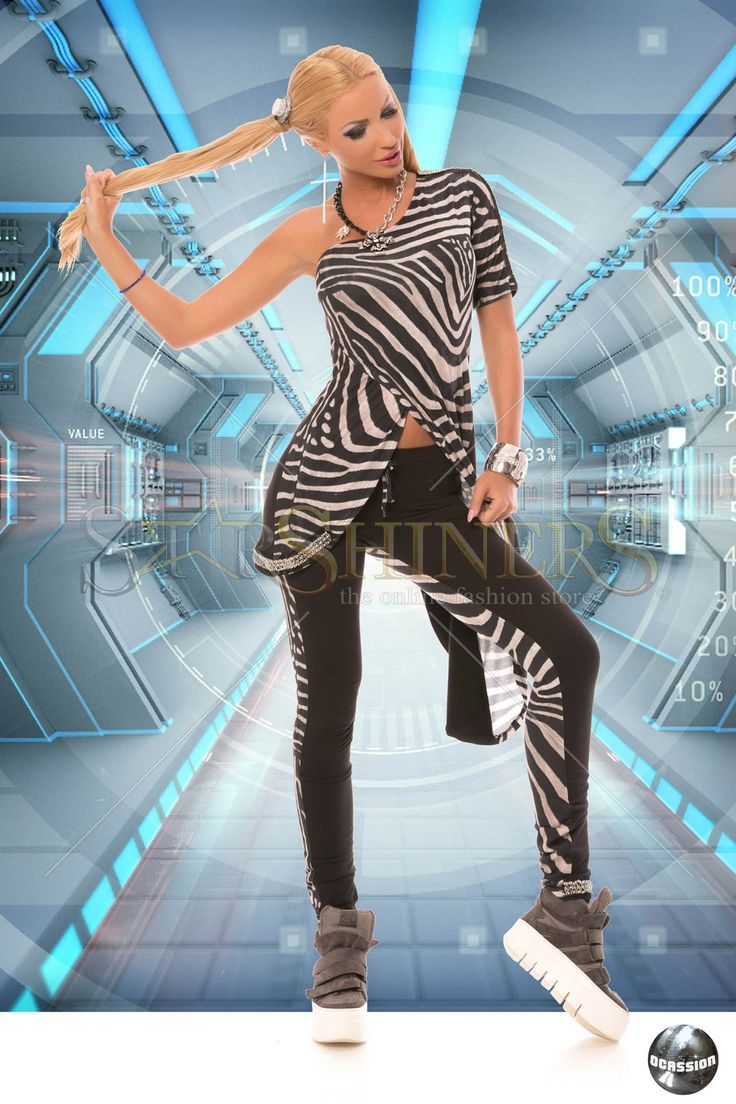 Set Ocassion Zebra Look Black