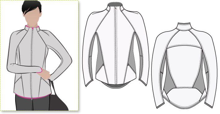 Steffi Jacket - Style Arc patterns - very similar to the super expensive Lululemon styles that I like