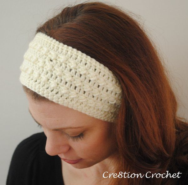 free crochet headband ear warmer pattern | Sleek and Skinny Headband Ear Warmer…