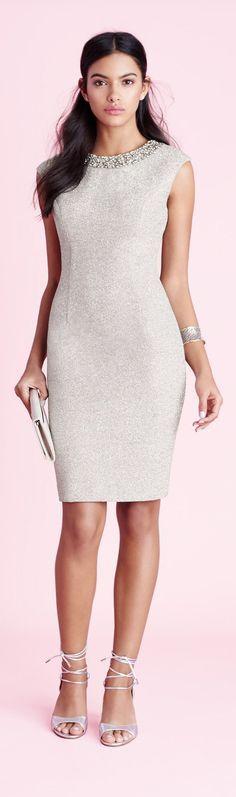 @roressclothes clothing ideas #women fashion silver midi dress
