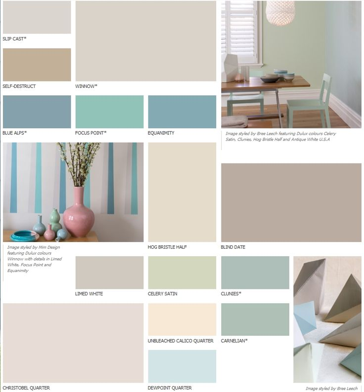 Dulux  - perfect colour palette