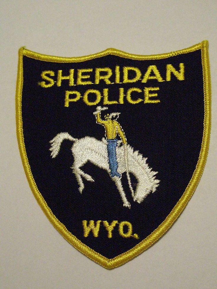 Sheridan Wyoming Police Patch Police patches, Police