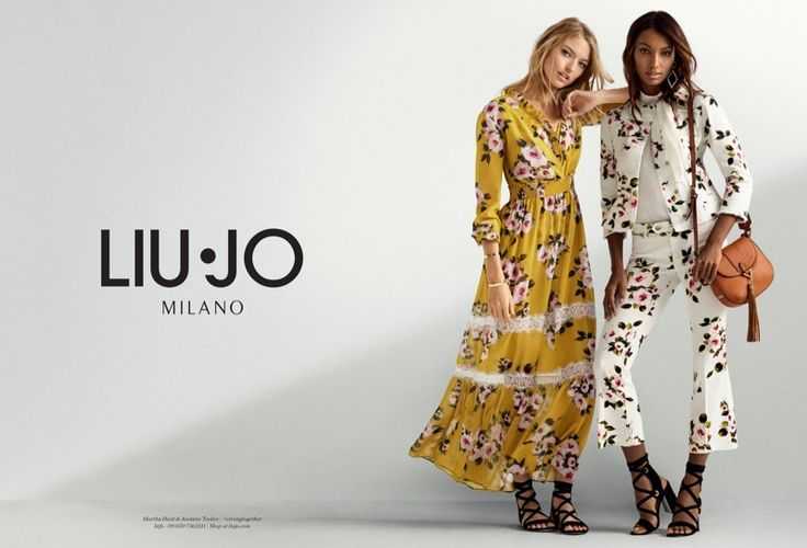 Martha Hunt and Jasmine Tookes embrace florals in Liu Jo's spring 2017 campaign