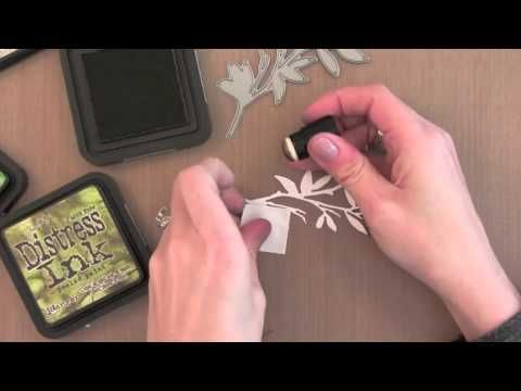 Watercolor Die Cuts.  Good video on how to achieve a watercolor look to your background and die cut easily.  She creates a one layer card by inlaying the die cut into the background.  Very pretty. 2.9.14