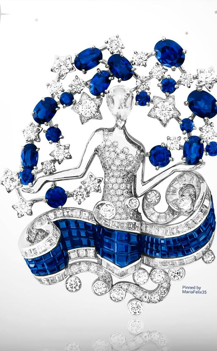 Van Cleef & Arpels Zodiac Clips ~ Virgo Sign