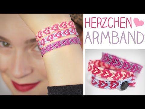 DIY Herzchen Armband knüpfen - Valentinstag - Herz, Geschenk - alive4fashion - YouTube