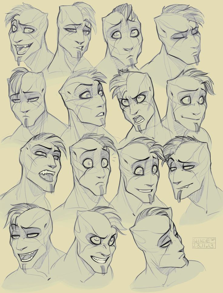 how to draw an angry face