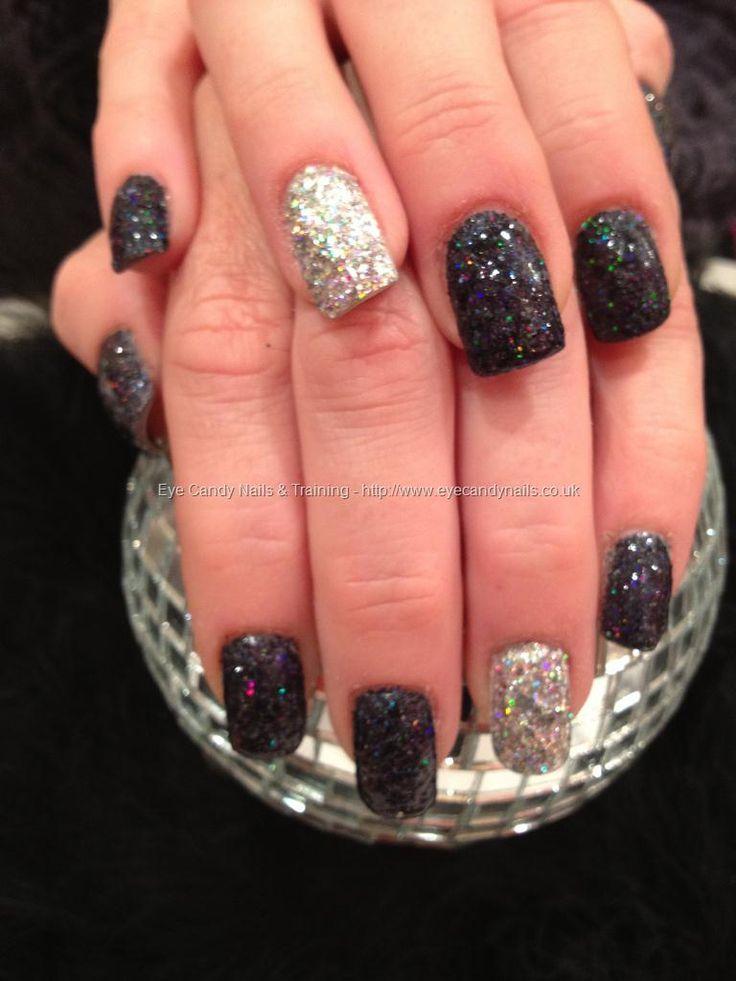 Black and silver glitter