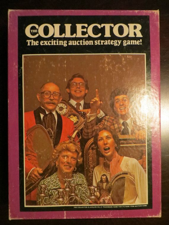 Vintage The Collector  Exciting Auction Strategy Board Game