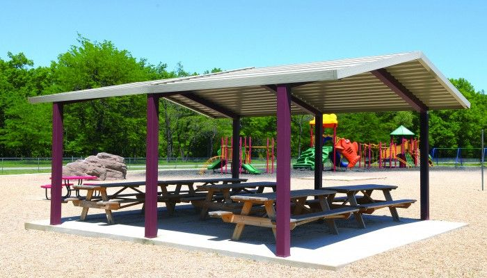 Meramec Park Shelters Most Economical Shelters And Commerical Products From Americana Outdoors Gable Roof Outdoor Hip Roof