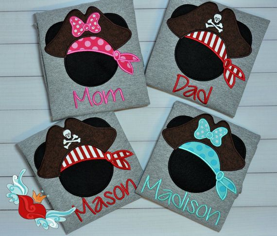 Personalized  Disney Cruise-Pirate-Minnie by bowsandgirls on Etsy