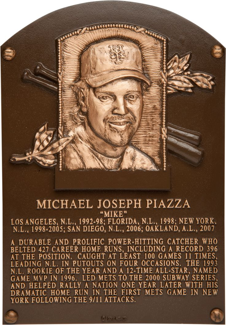 Mike Piazza - HOF Plaque