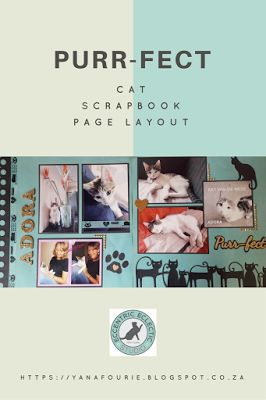 Double Page Cat Scrapbook Layout