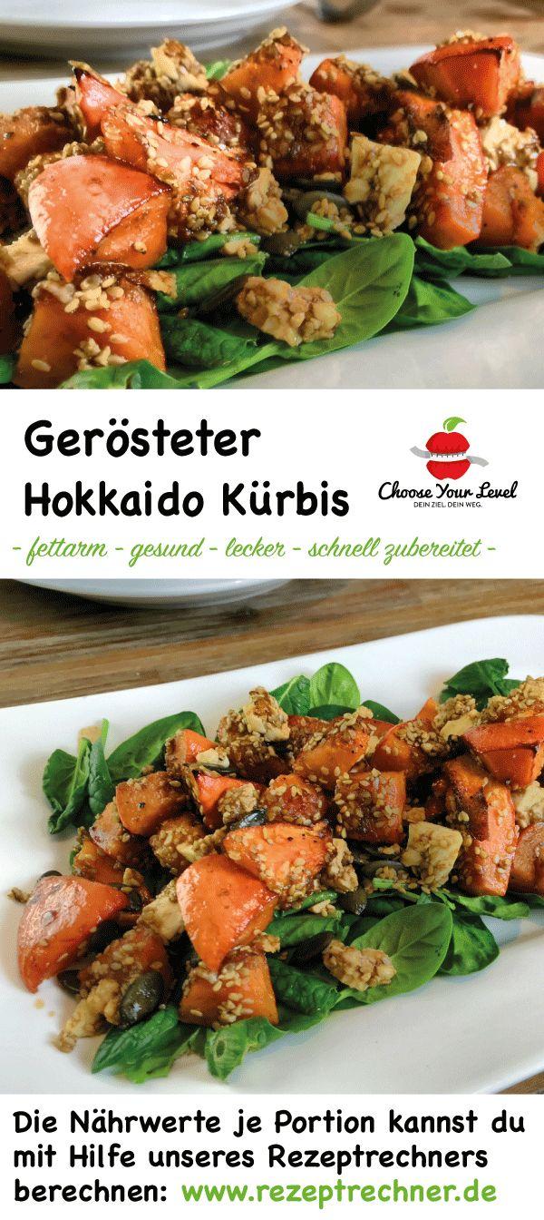 herbsalat: hokkaido kürbis rezept - gerösteter kürbis schnell zubereitet und extrem lecker - sattmacher - gesund - glutenfrei
